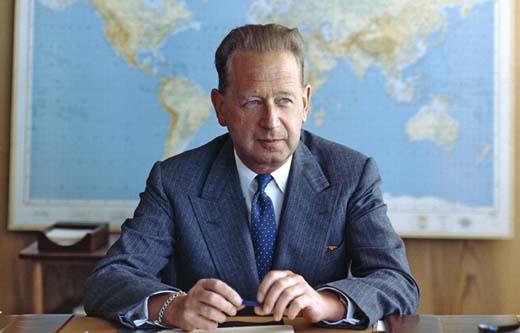 Dag Hammarskjöld, FN:s generalsekreterare 1953-61.