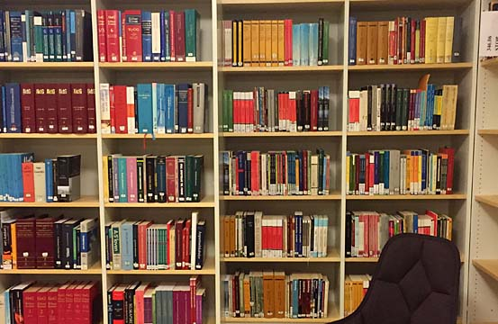 Läsesal på Dag Hammarskjöldsbiblioteket.
