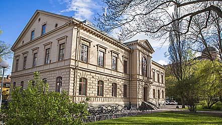 Dag Hammarskjöldbiblioteket i Uppsala. Foto: Magnus Hjalmarsson.