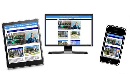 Webbplatsanpassad till olika skärmstorlekar.