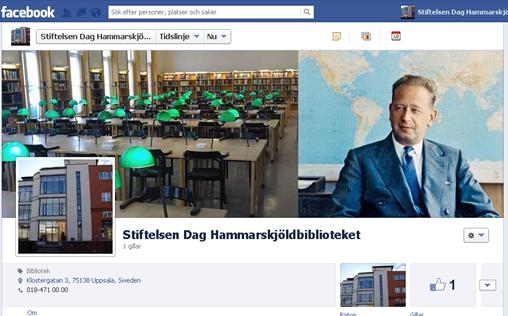 Stiftelsen Dag Hammarskjöldbibliotekets Facebooksida.