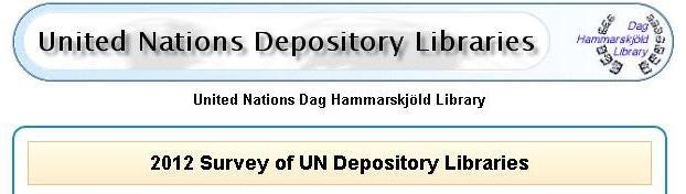 Undersökning av FN:s depåbibliotek 2012.