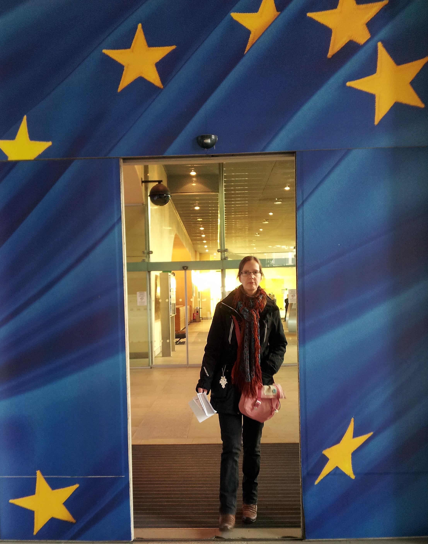Ingången till Europakommissionen.