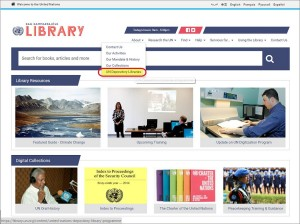Dag Hammarskjöld Library, New York, web site