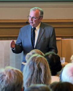 Hans Corell om Hammarskjöldkommissionen. Foto: Kim Kangaslampi