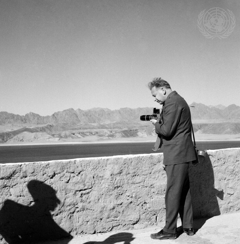 Dag Hammarskjöld fotograferar, Egypten 1958